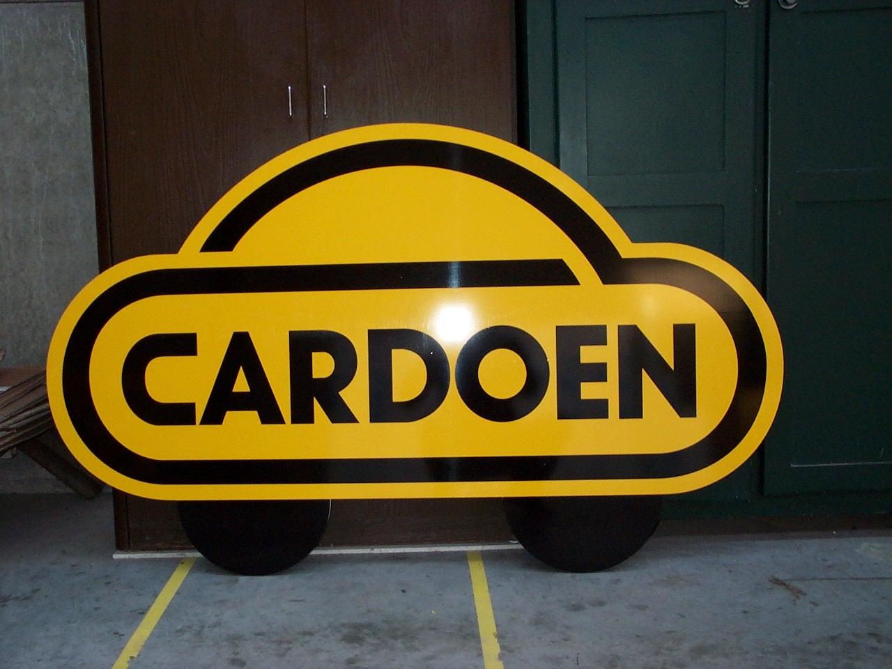 reclamebord in contour gesneden voor auto's cardoen