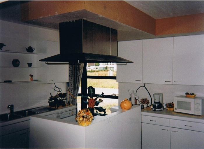 keuken wit laminaat + kookeiland