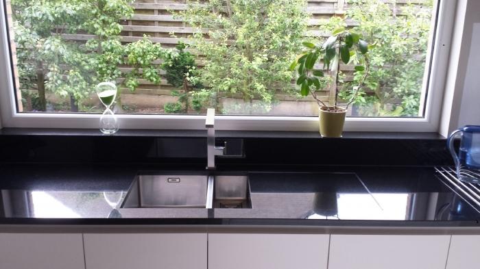 Zwart keuken werkblad - Werkblad graniet prijzen keuken ...